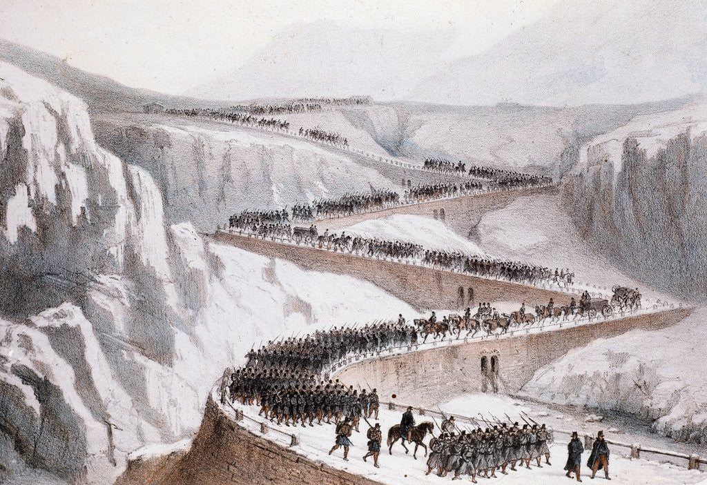 Detail of The passage of Moncenisio by the French army,1859 by Corbis