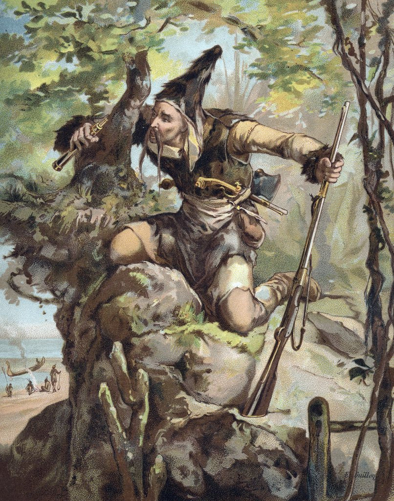 Detail of The Life and Adventures of Robinson Crusoe by Defoe by Corbis