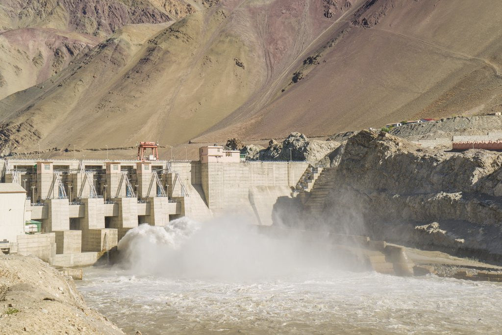 Detail of Alchi, the Dam along Indus River by Corbis