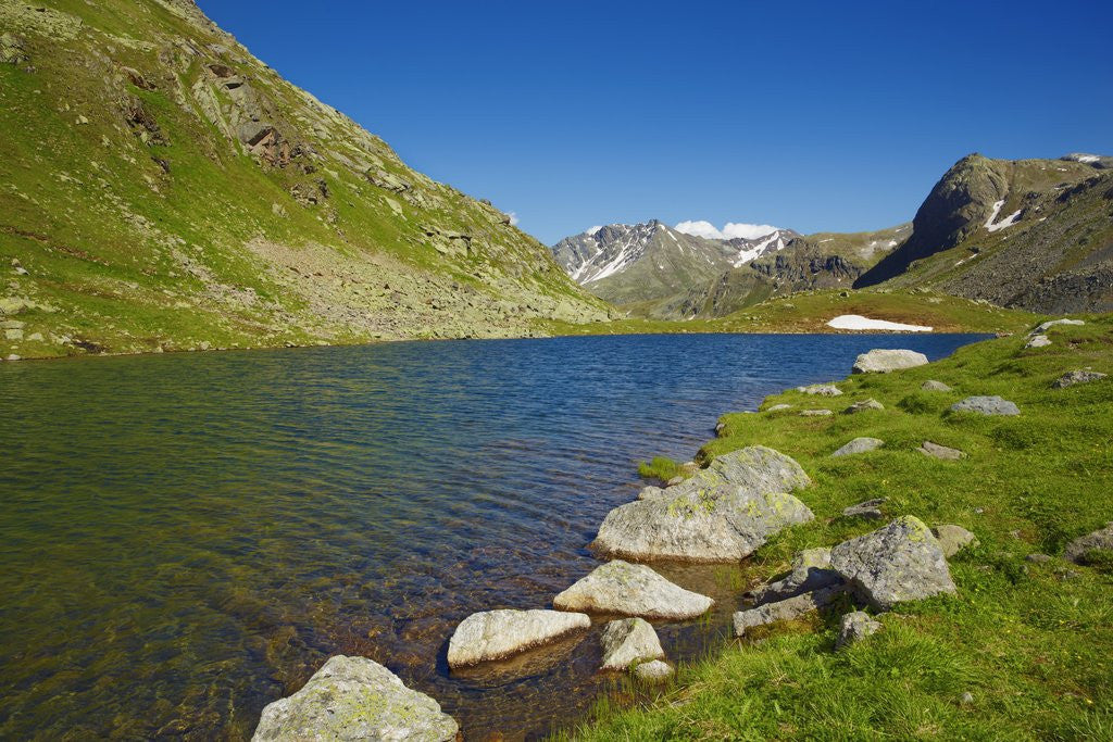 Detail of Mountain impression at Flueela Pass with Schwarzsee by Corbis