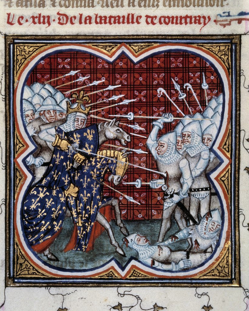 Detail of Battle of Courtrai or the Battle of the Golden Spurs, 1302 by Corbis