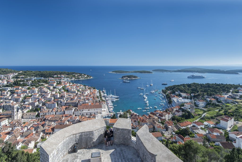 Detail of Hvar Town & Harbor by Corbis