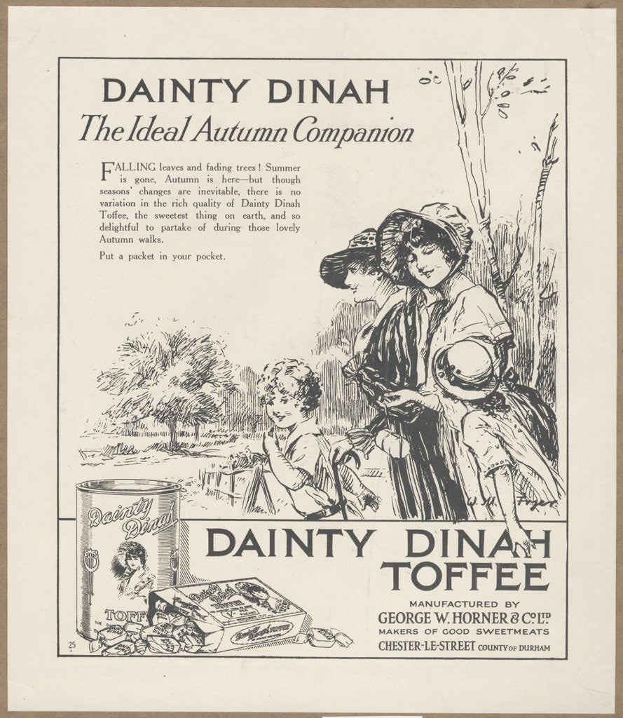 Detail of Dainty Dinah Toffee, c.1920. Artist: Wilfred Fryer by Corbis