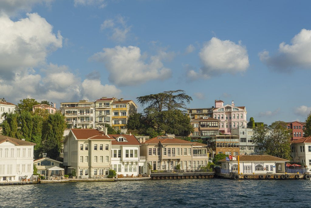 Detail of Beautiful houses along Bosporus by Corbis
