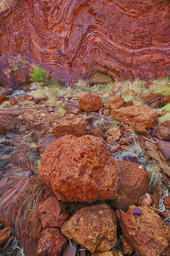 Detail of Canyon landscape in Hamersley Gorge by Corbis