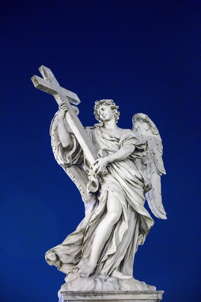 Detail of Angel on Sant Angelo Bridge, Rome, Italy by Corbis