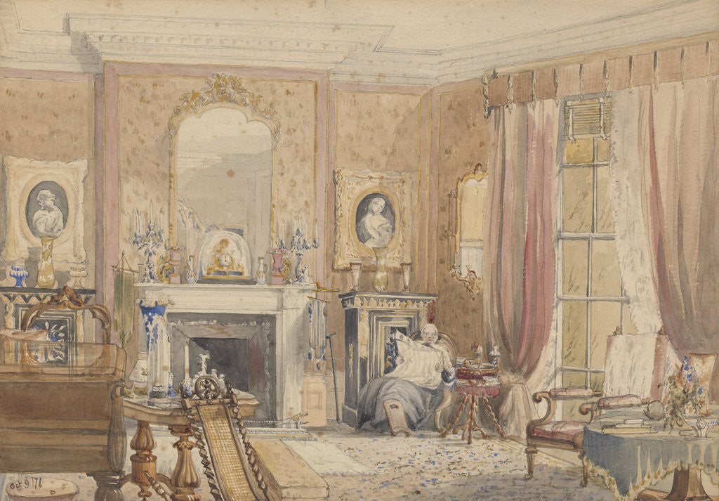 Detail of The Drawing Room at Bryn Glâs,  Newport Mon[mouthshire] by Julia Mackworth