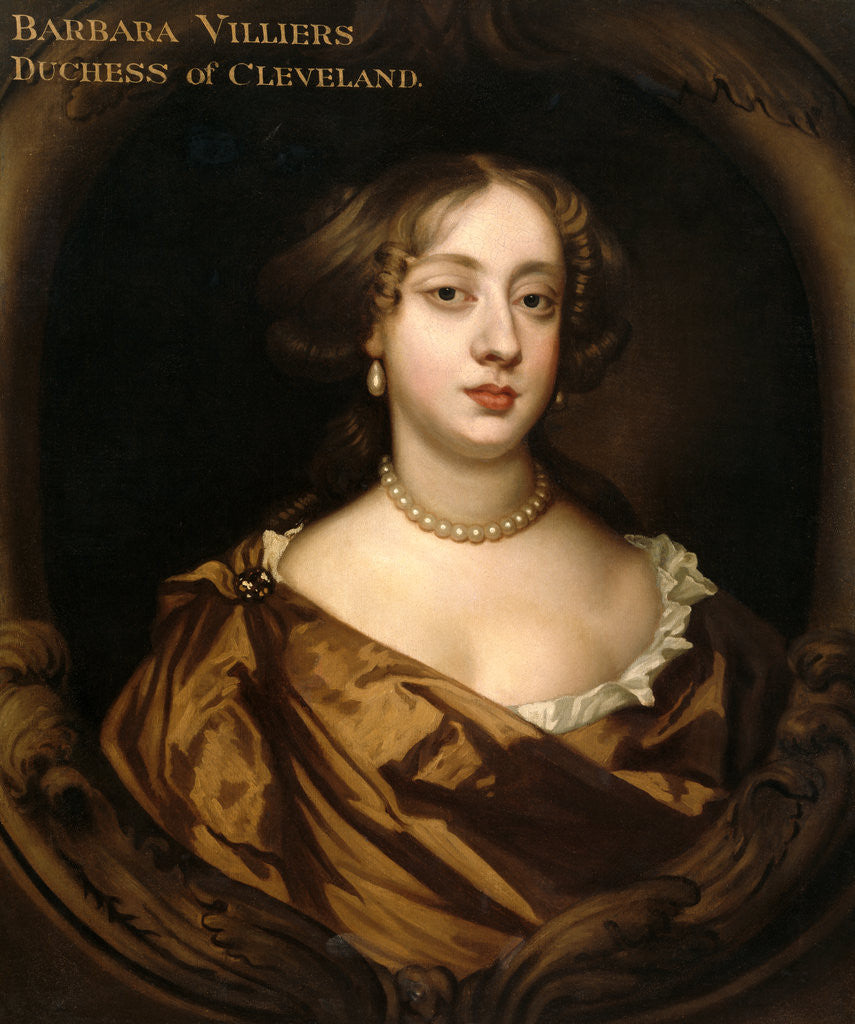 Detail of Portrait of Barbara Villiers, Duchess of Cleveland by Anonymous