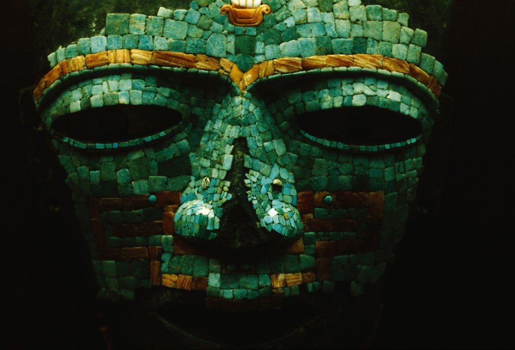 Detail of Teotihuacan Mosaic Sculpture Mask by Corbis