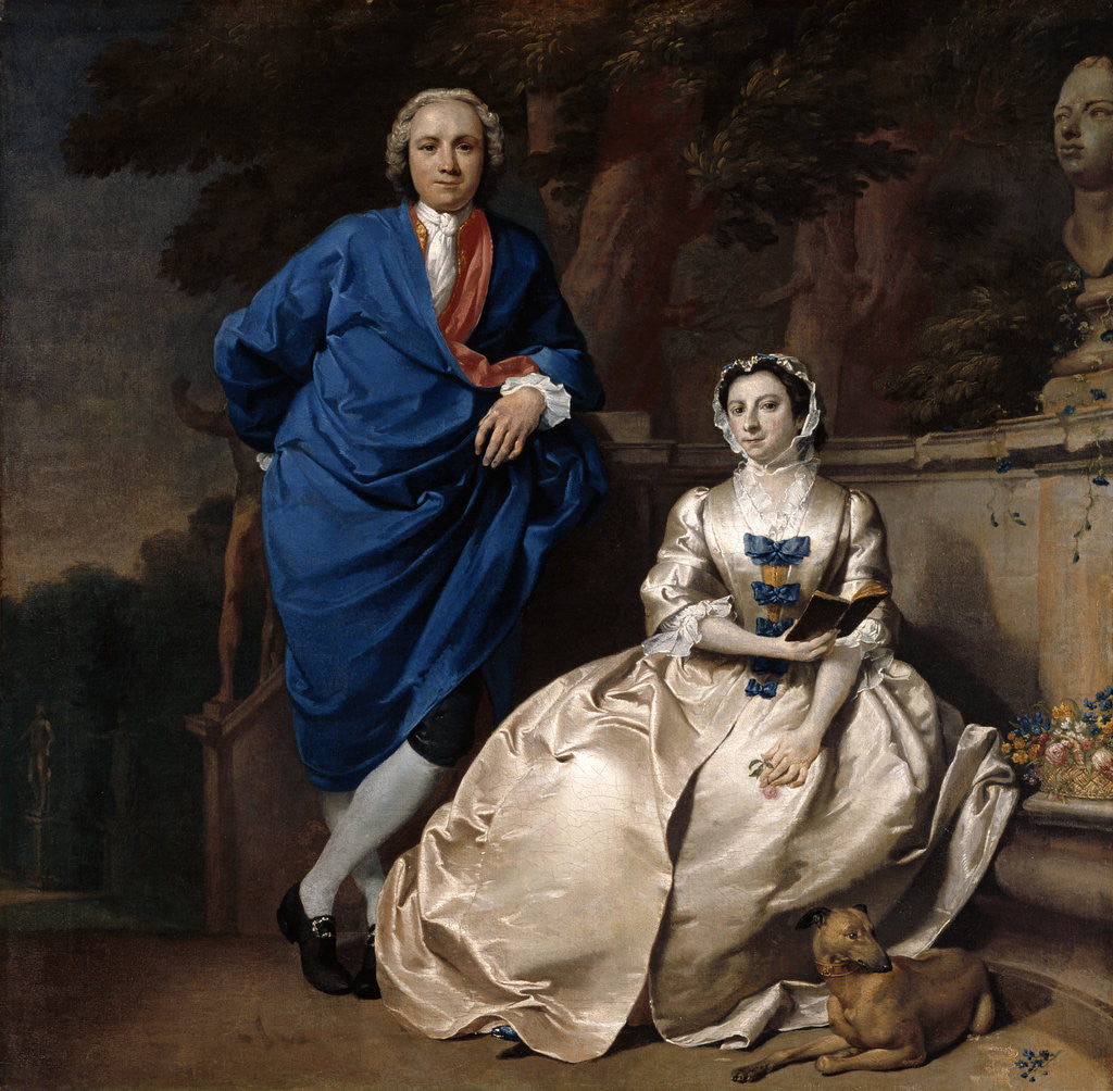 Detail of Portrait of George Michael Moser and his Wife Mary by Carl Marcus Tuscher