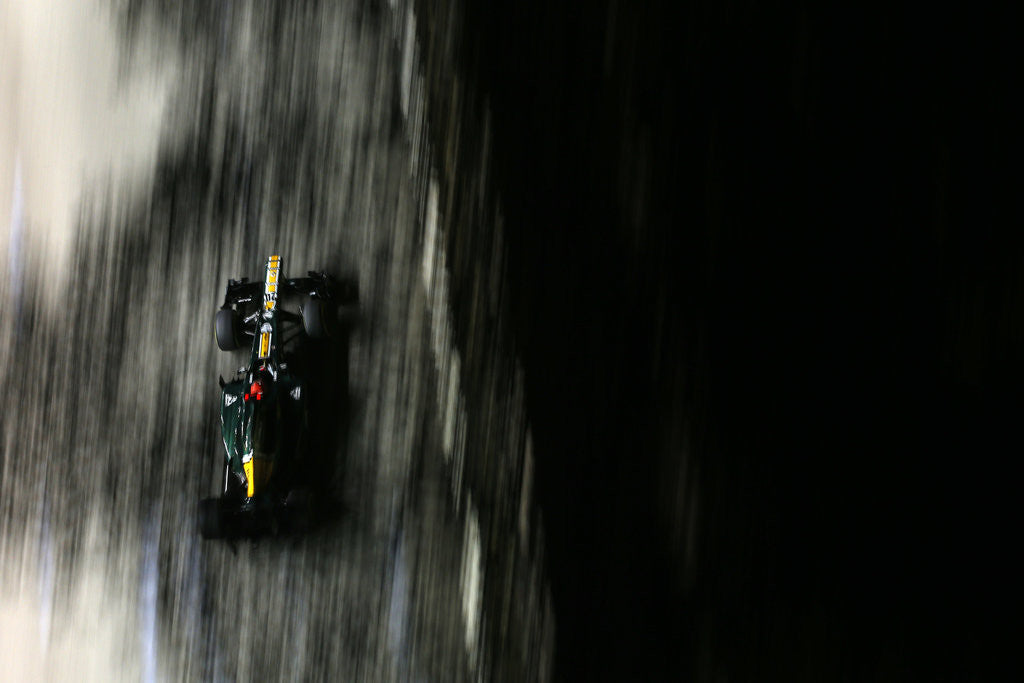 Detail of Homage to Miller, Heikki Kovalainen, Singapore by Glenn Dunbar