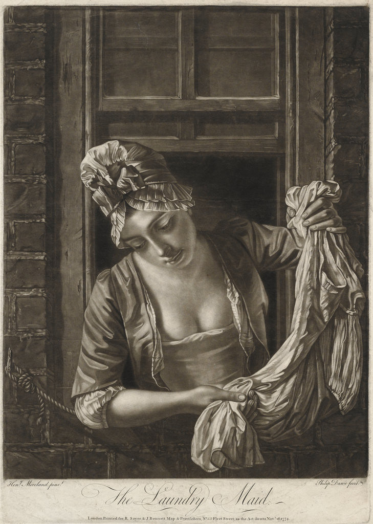 Detail of The Laundry Maid by Charles Dawe