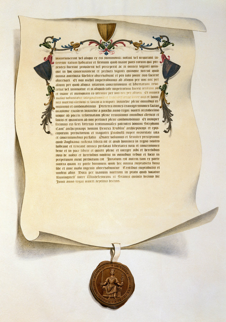 Facsimile of the Magna Carta by J. Harris