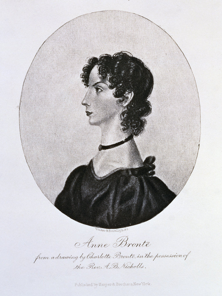 Detail of Engraving of Anne Bronte by Walker and Boutall