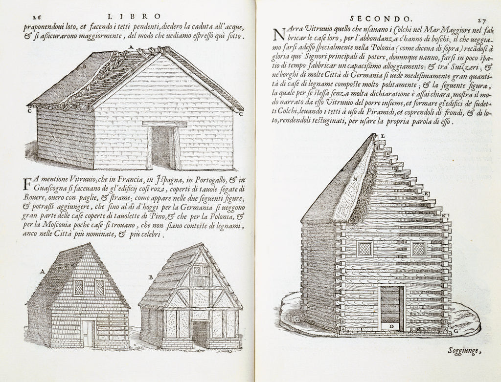 Detail of Illustration of House Types by Giovanni Antonio Rusconi