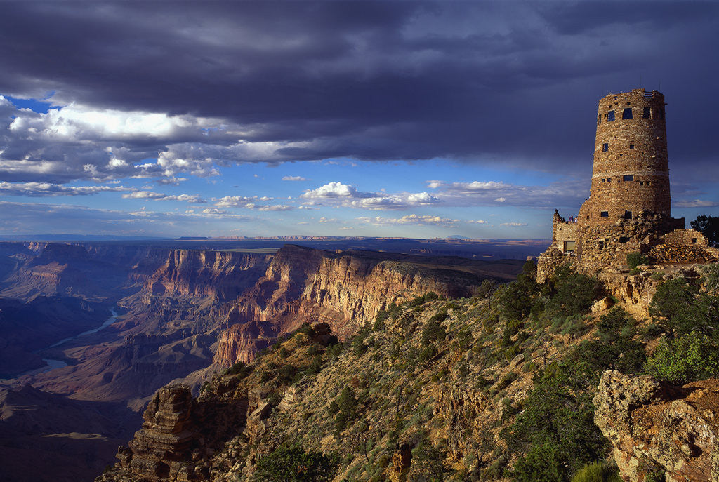 Detail of Desert View Watchtower and South Rim by Corbis