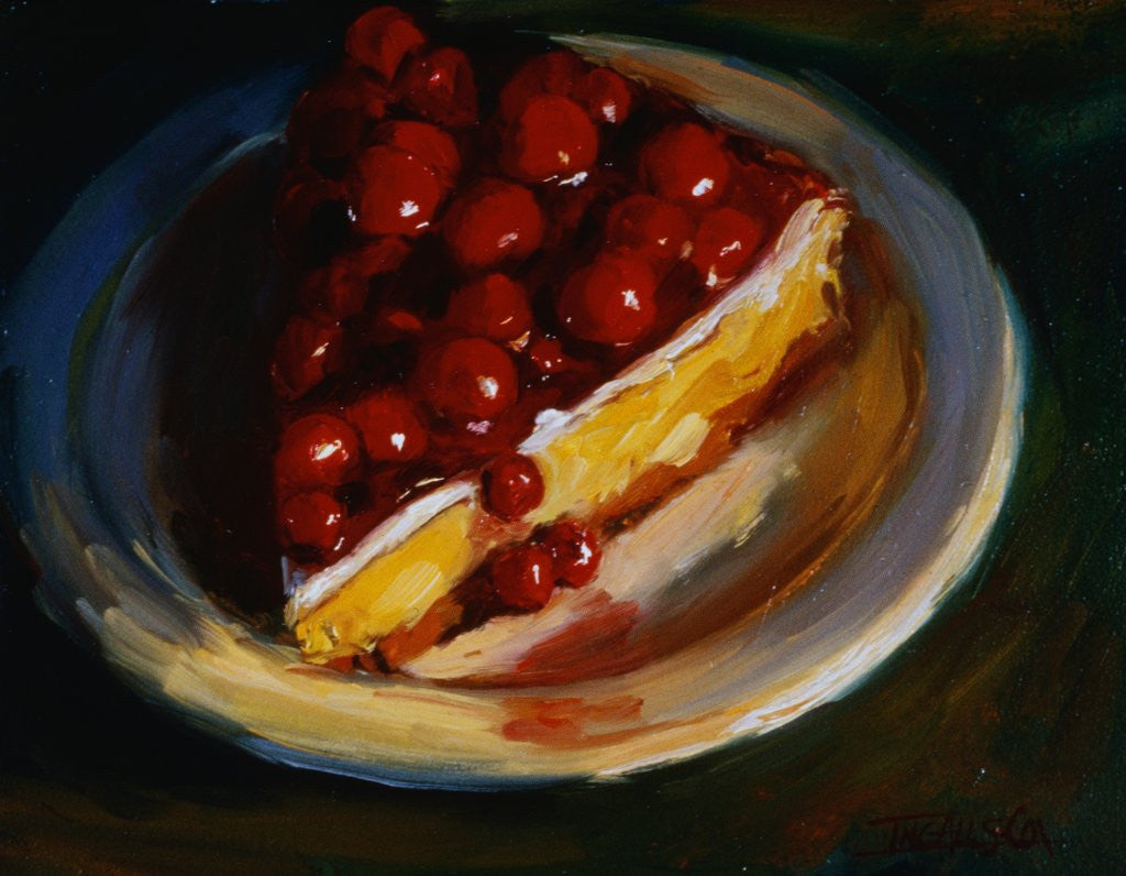 Detail of Cherry Cheesecake by Pam Ingalls
