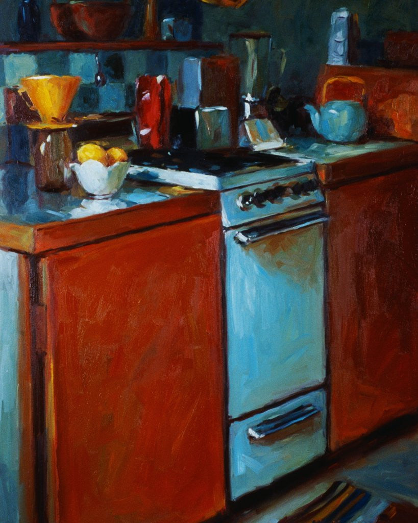 Detail of Kathleen's Kitchen by Pam Ingalls