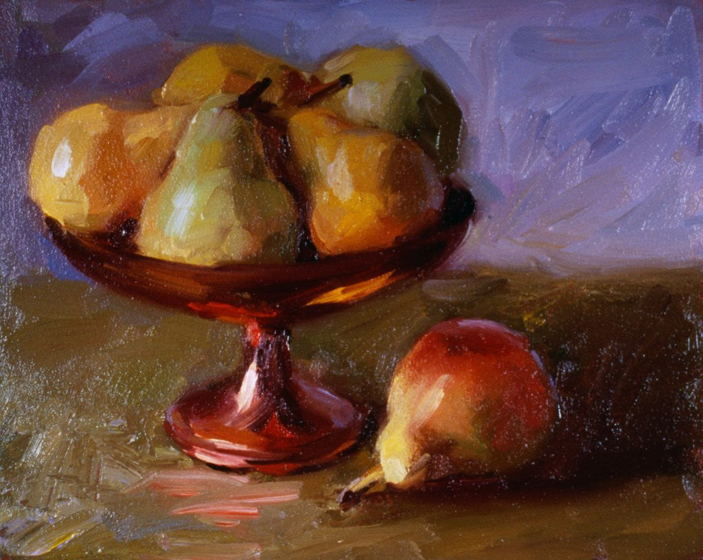 Detail of Pears and Copper Dish by Pam Ingalls