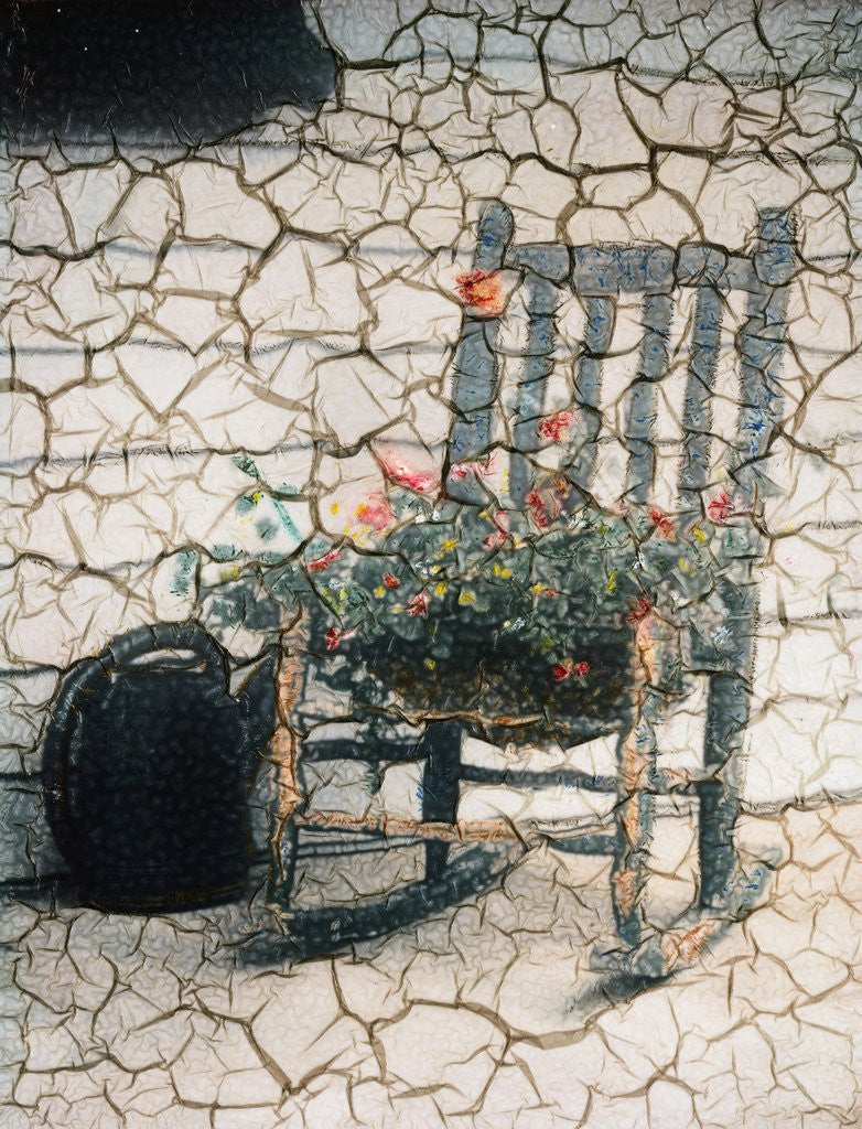 Detail of Rosemarie's Chair, Cracked by Kim Koza