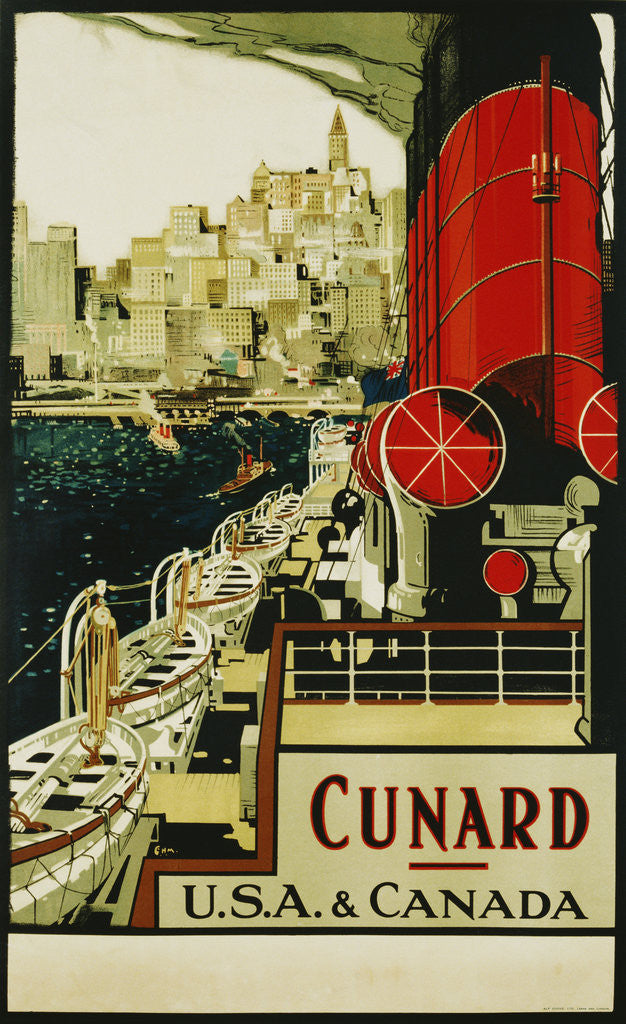 Detail of Cunard USA & Canada Poster by C.H.M.