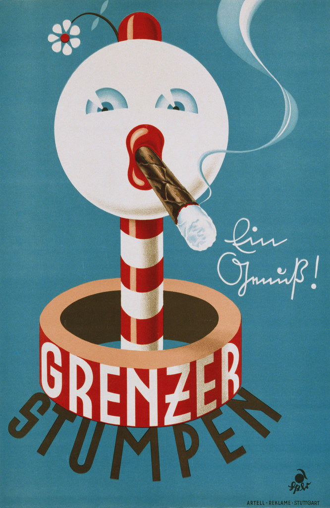 Detail of Grenzer Stumpen Poster by Corbis