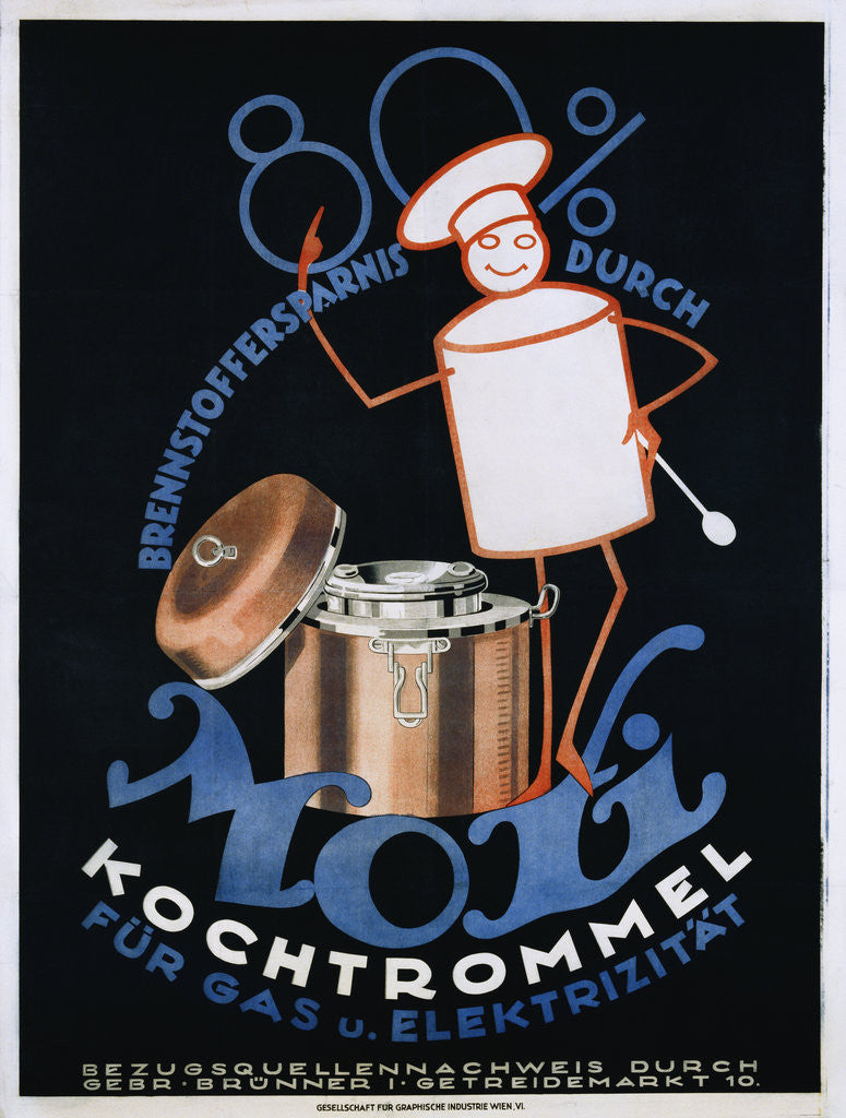 Detail of Moxi Kochtrommel Poster by Corbis