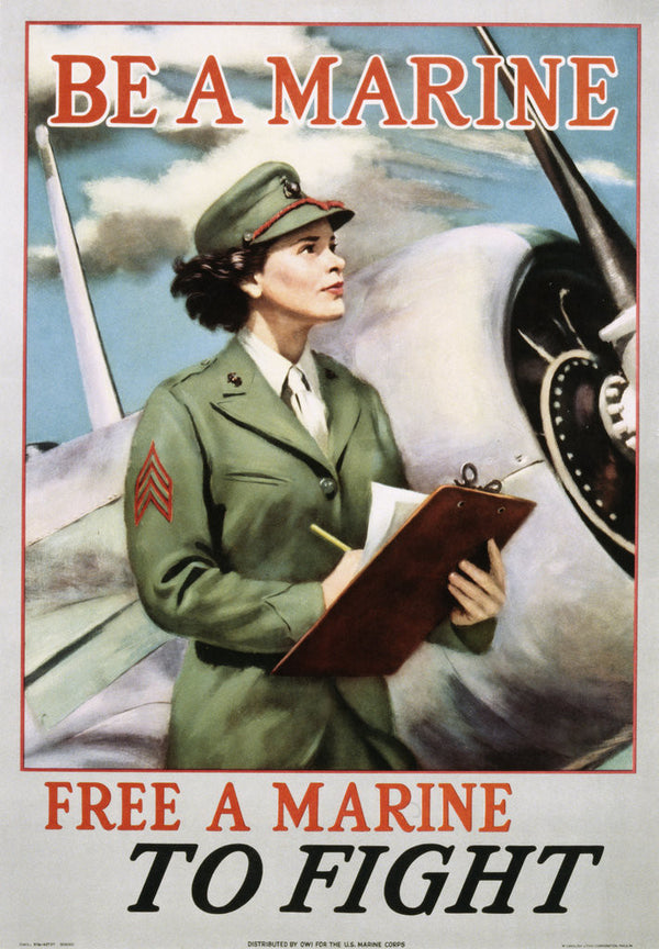 Be A Marine Free A Marine To Fight Poster Posters