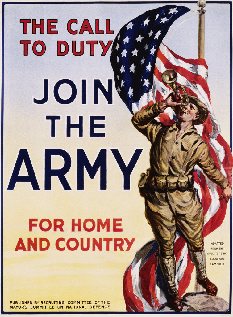 Detail of The Call to Duty for Home and Country Poster by Corbis