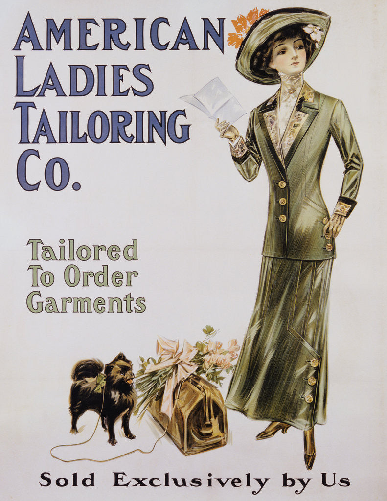 Detail of American Ladies Tailoring Co. Poster by Corbis