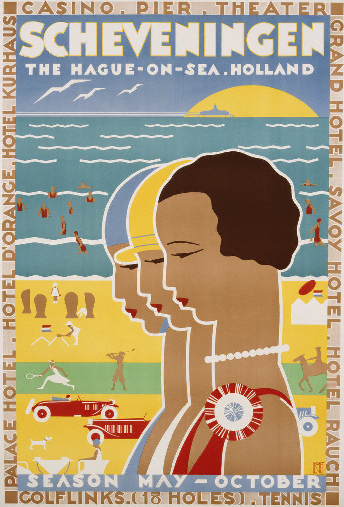 Detail of Scheveningen - The Hague-On-Sea - Holland Poster by Louis Kalff