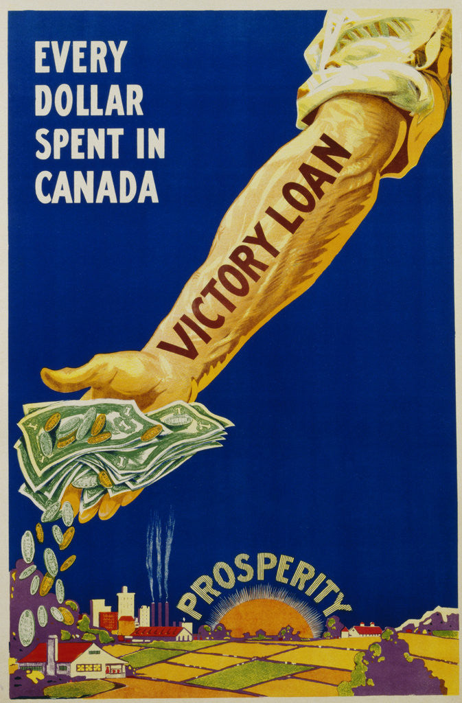 Detail of Every Dollar Spent in Canada. Victory Loan Poster by Corbis