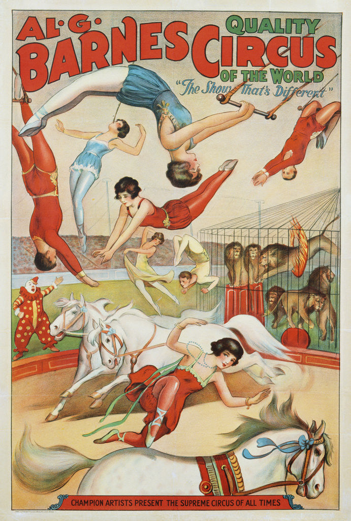 Detail of Al G. Barnes Circus - Quality Circus of the World Poster by Corbis