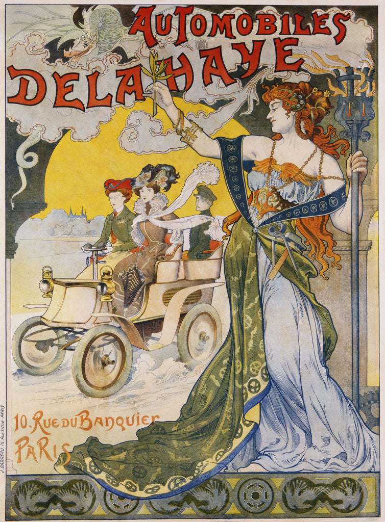 Detail of Automobiles Delahaye Poster by Corbis