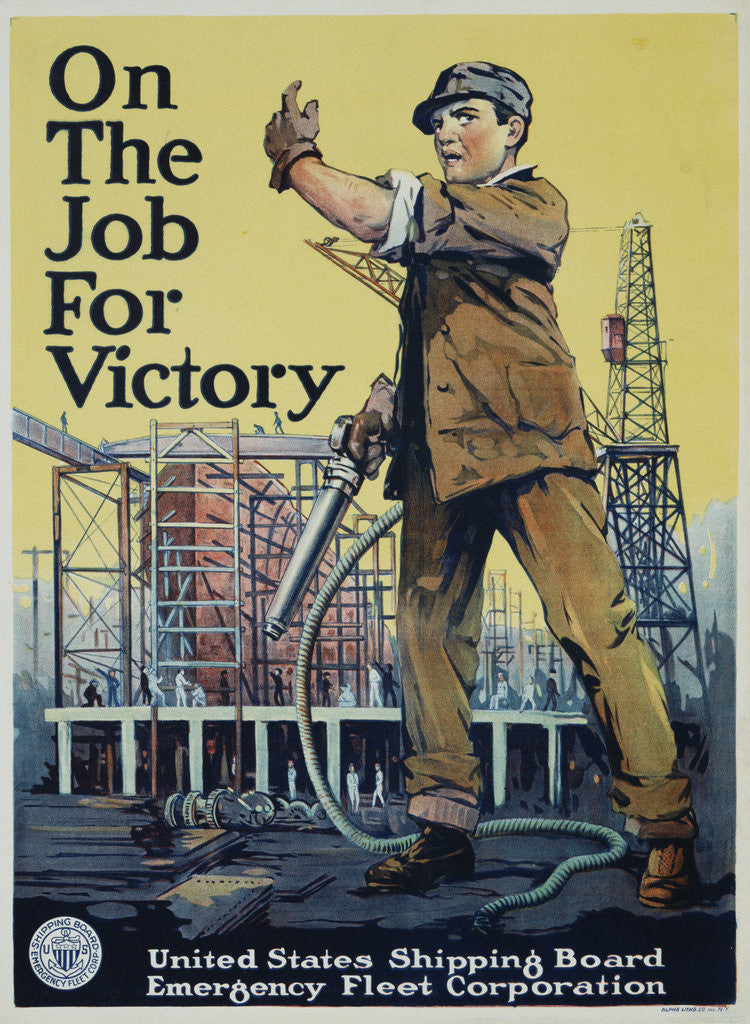 Detail of On the Job for Victory War Effort Poster by Corbis