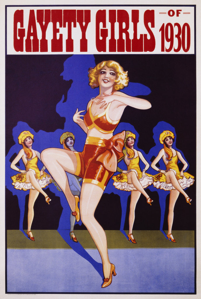 Detail of Gayety Girls of 1930 Poster by Corbis