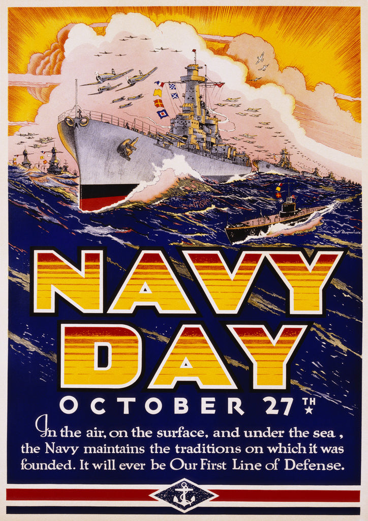Detail of Navy Day October 27th Poster by Matt Murphey