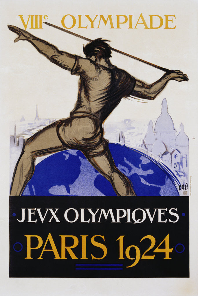 Detail of Jeux Olympiques, Paris 1924 Poster by Orsi