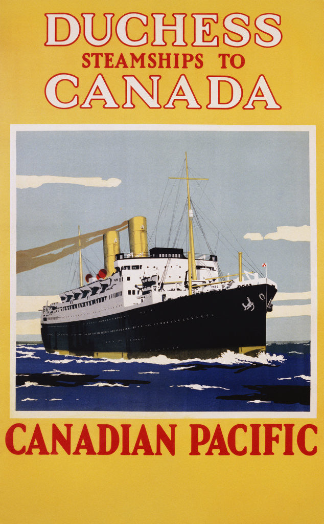 Detail of Duchess Steamships to Canada Poster by Corbis
