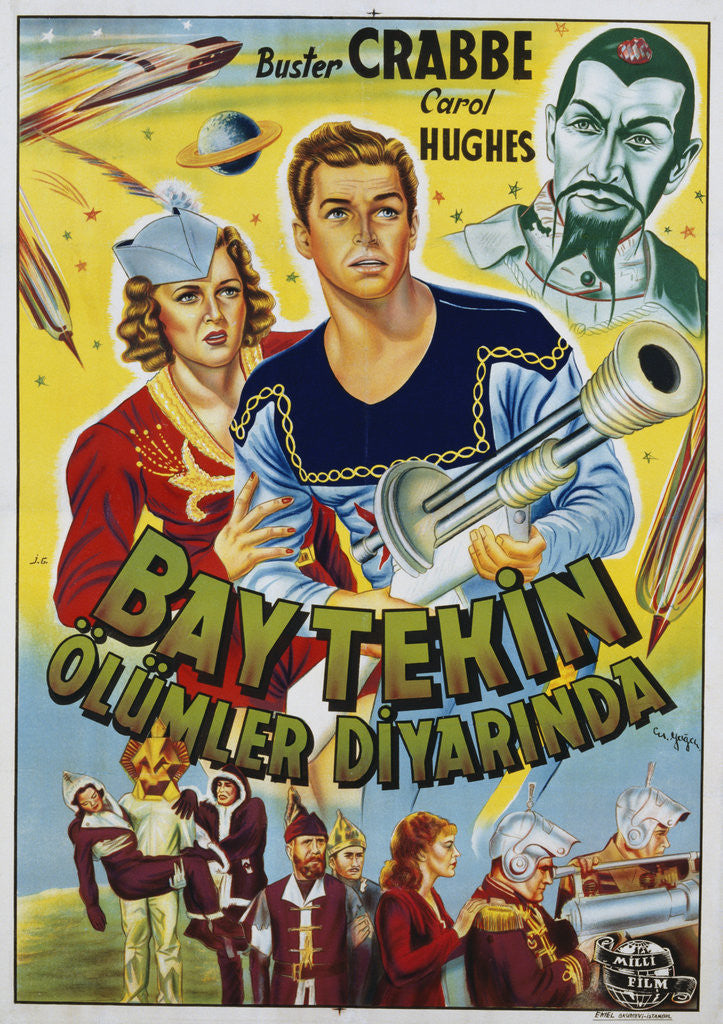 Detail of Buck Rogers Turkish Movie Poster by Corbis