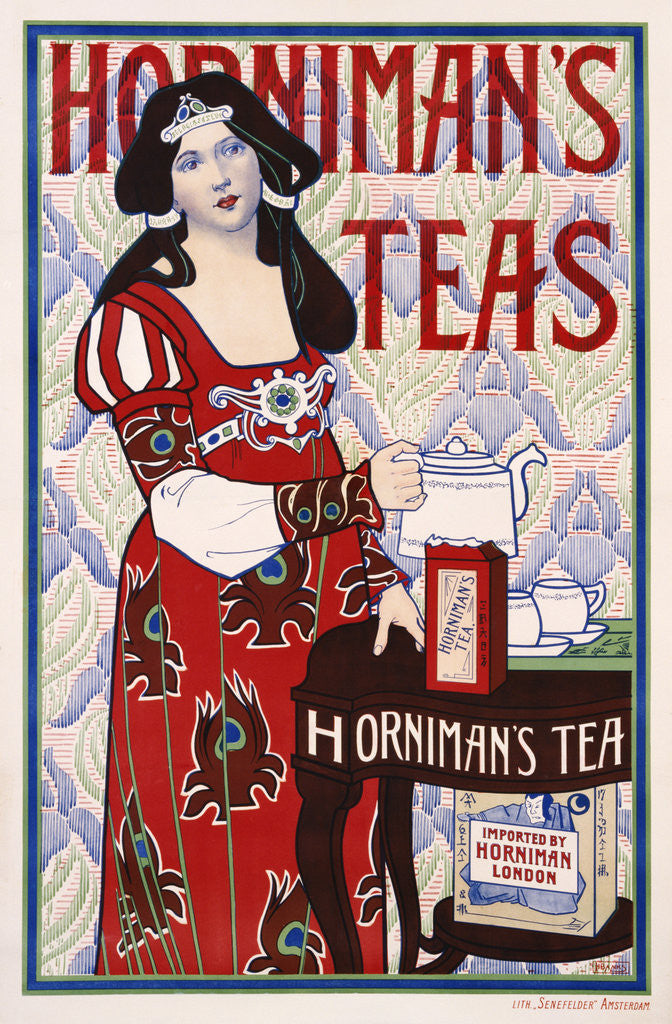 Detail of Horniman's Teas Advertisement Poster by H. Banks