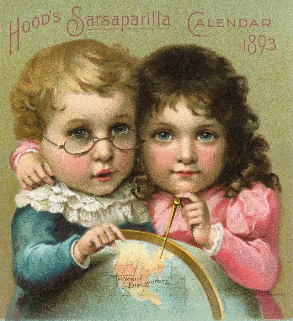 Detail of Hood's Sarsaparilla Calendar Color Lithograph by Corbis