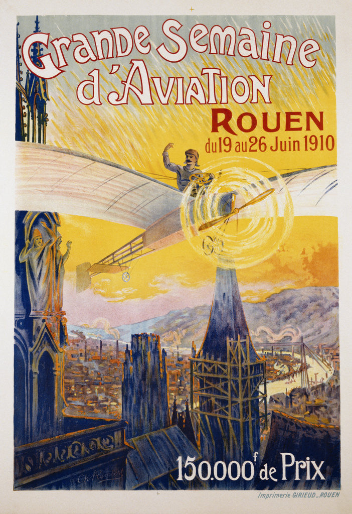 Detail of Grande Semaine d'Aviation Poster by Charles Rambert