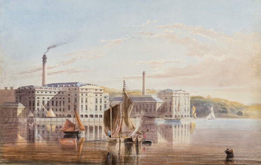 Detail of The Royal William Victualling Yard, Stonehouse, c.1840 by English School