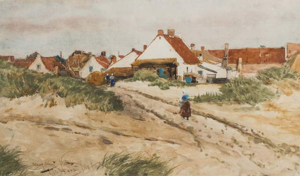 Detail of Nearing Sunset, Katwijk, Holland, 1894 by Thomas Bush Hardy