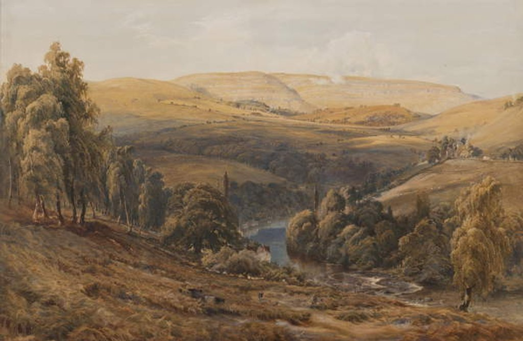 Detail of Valley of the Dee, near Llangollen by Bernard Walter Evans