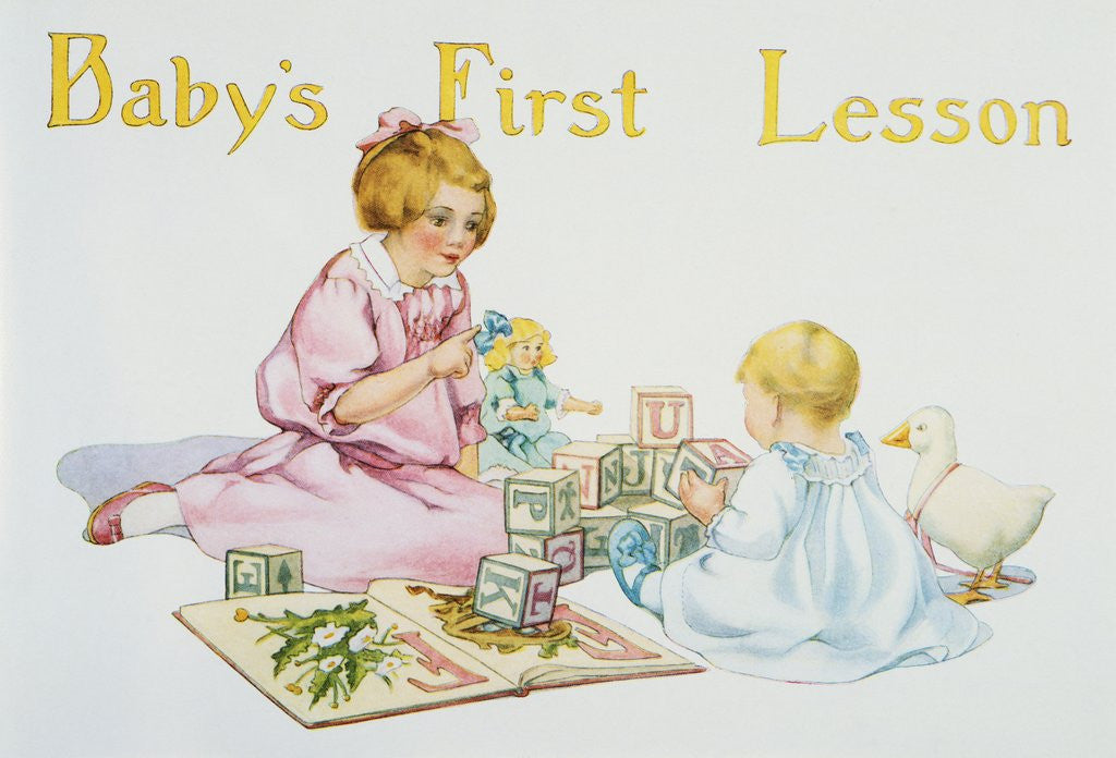 Detail of Baby's First Lesson Book Illustration by Florence Curtis Elizabeth Choate