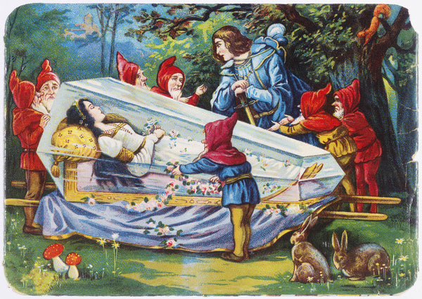 Illustration Depicting The Prince And The Seven Dwarfs