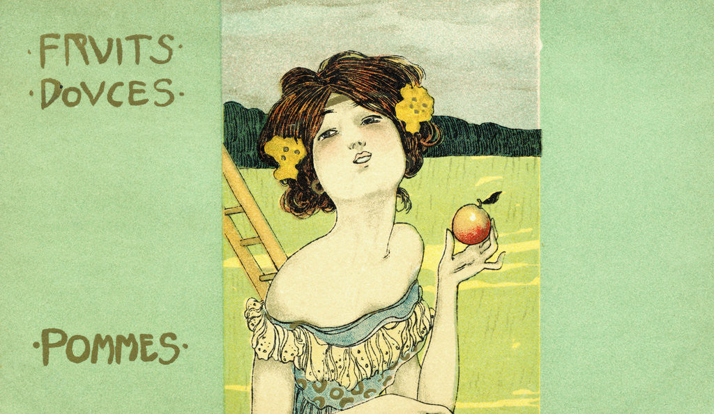 Detail of Fruits Douces: Pommes Postcard by Corbis