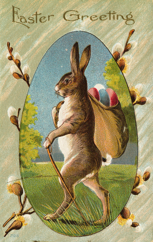 Detail of Easter Greeting Postcard by Corbis